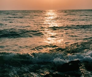 Red Sea, sea, and sunset image