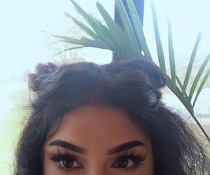 hair, girl, and eyebrows image