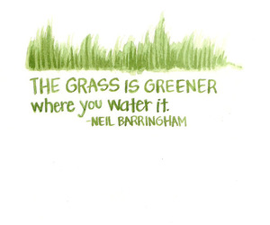 quote, grass, and green image