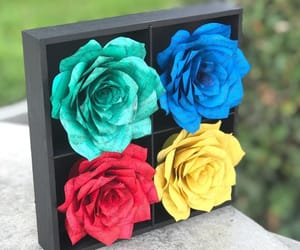 etsy, paper art, and flower home decor image