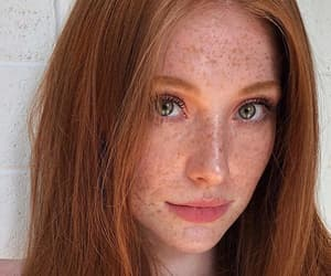 redhead, freckles, and girl image