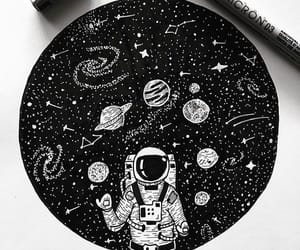 art, astronaut, and awesome image