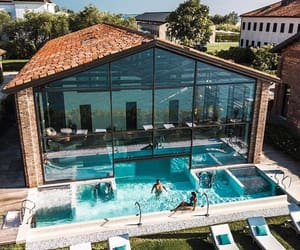 architecture, home, and pool image