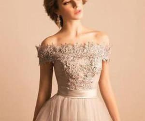 ivory prom dress, prom dress lace, and homecoming dress lace image