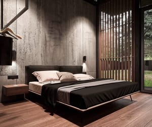 bedroom decor, big house, and black image