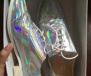 aesthetic, holographic, and shoes image
