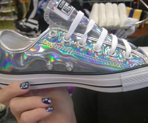 converse, holographic, and shoes image