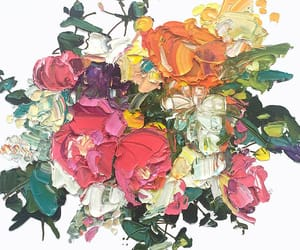 art, color, and floral image