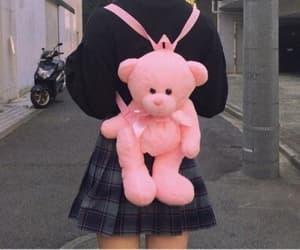 backpack, bear, and kawaii image
