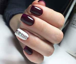 burgundy, nails, and red image