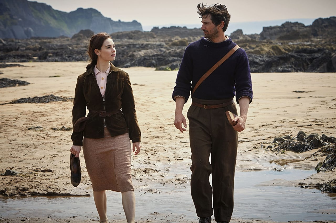 lily james, movie, and guernsey image