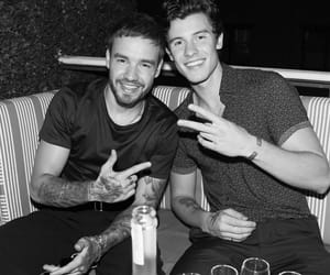 shawn mendes, liam payne, and black and white image
