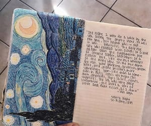 art, starry night, and book image