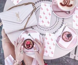 coffee, pink, and cupcake image