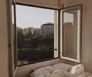 aesthetic, window, and bed image