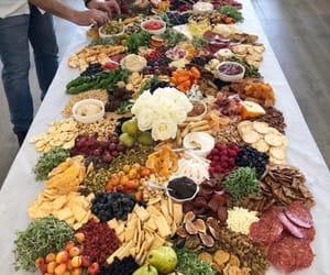 food, platter, and yum image