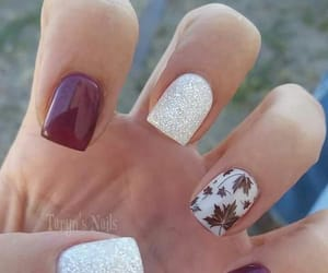 nails, fall, and nail art image