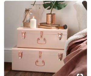 bedroom, home, and rose gold image
