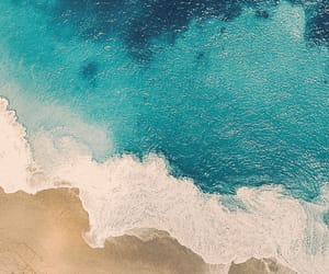 beach, wallpaper, and sand image