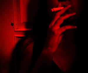 cigarettes, fingers, and girl image
