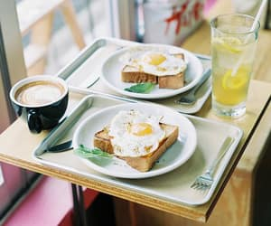 breakfast, photography, and toast image