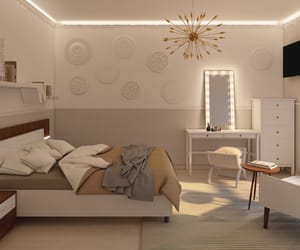 art, bed, and design image