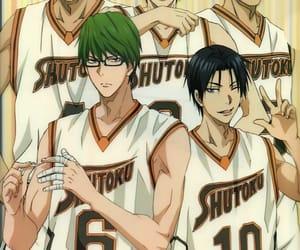 anime, kuroko no basket, and shutoku image