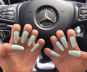 green, long, and nails image