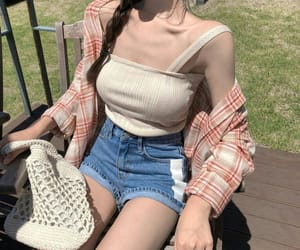 casual, girl, and pale image