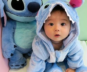 cutie, stitch, and adorable baby image