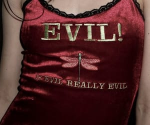 red, evil, and aesthetic image