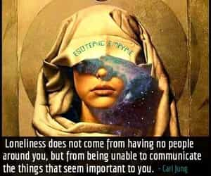 loneliness, carl jung, and quote image