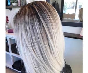 bleached hair, short hair, and white hair image