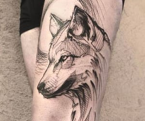 art, wolf tattoo, and artistic image