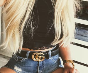blond, girl, and gucci image
