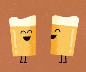 cerveza, feliz, and reir image