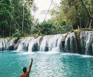 fun, wanderlust, and waterfall image