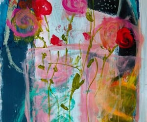 floral, paintings, and art image