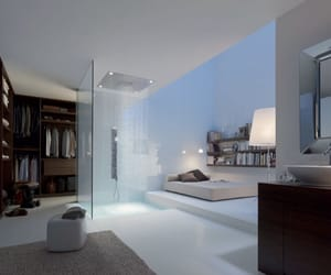 shower, bedroom, and house image