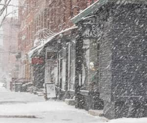 blizzard, Brooklyn, and brownstone image