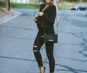 black colors, girls, and fashion image