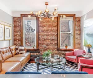 brownstone, exposed brick, and decor image
