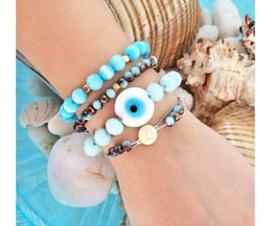 turquoise beads, turquoise jewelry, and greek evil eye image