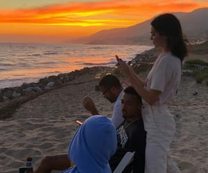 beach, sunset, and kendall jenner image