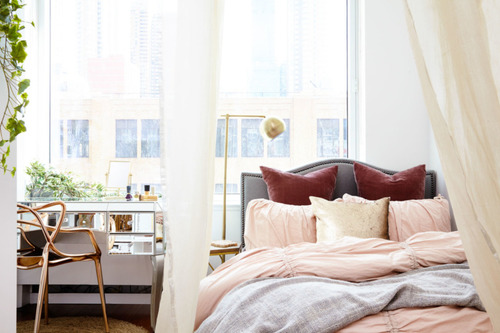 apartment, article, and bedding image