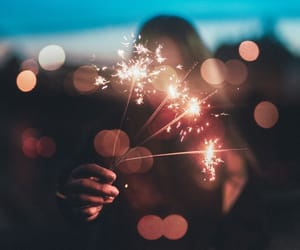lights, photography, and sparklers image