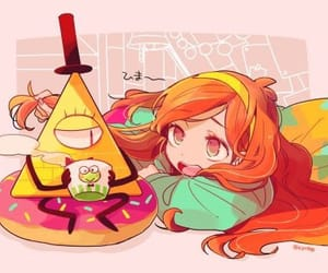 gravity falls, bill cipher, and mabel pines image