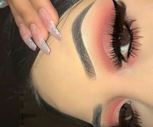 makeup, nails, and style image