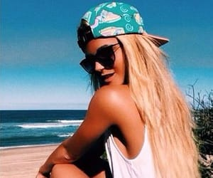 beach, style, and sun image