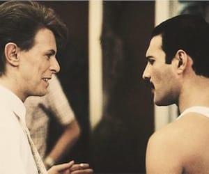 david bowie, Freddie Mercury, and under pressure image